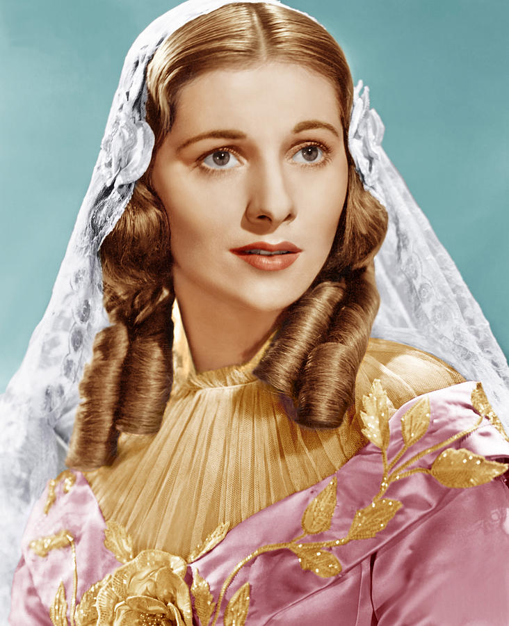 1940s Portraits Photograph - Jane Eyre, Joan Fontaine, 1943 by Everett