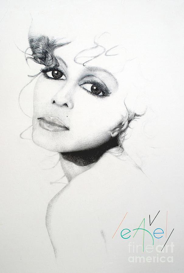 Janet J Drawing  - Janet J Fine Art Print