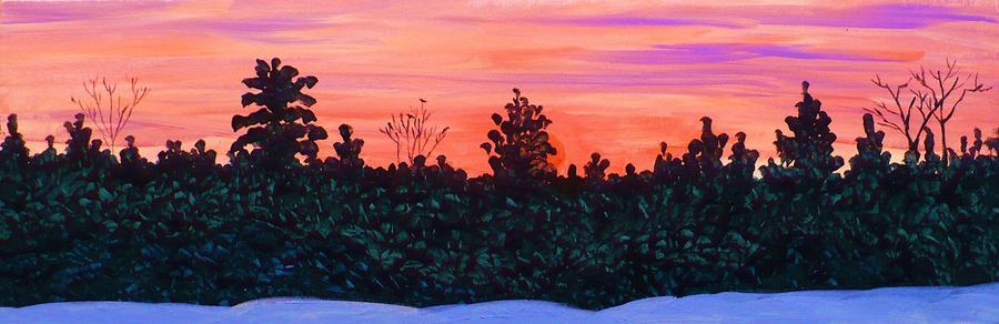 January Sunrise Painting