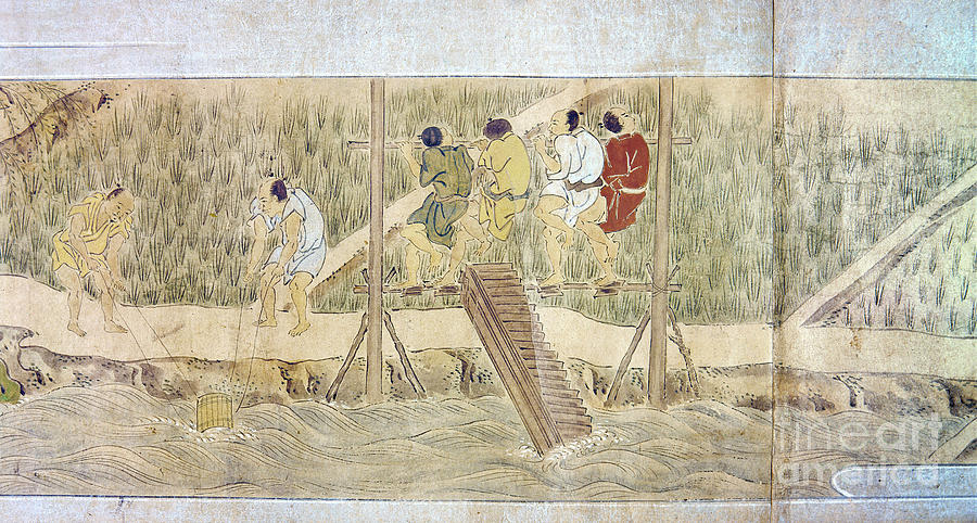 Japan: Irrigation, C1575 Photograph
