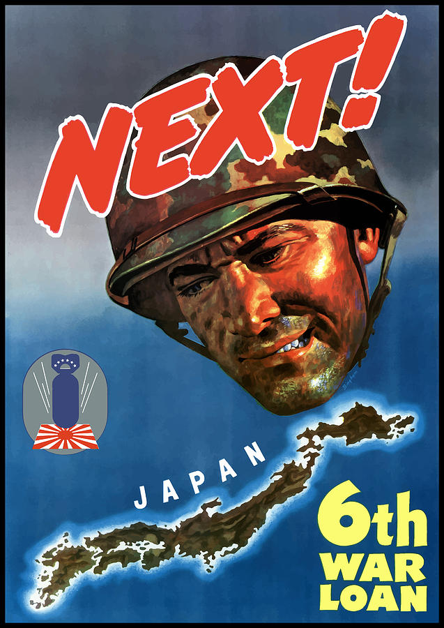 Japan Next World War 2 Poster Painting  - Japan Next World War 2 Poster Fine Art Print