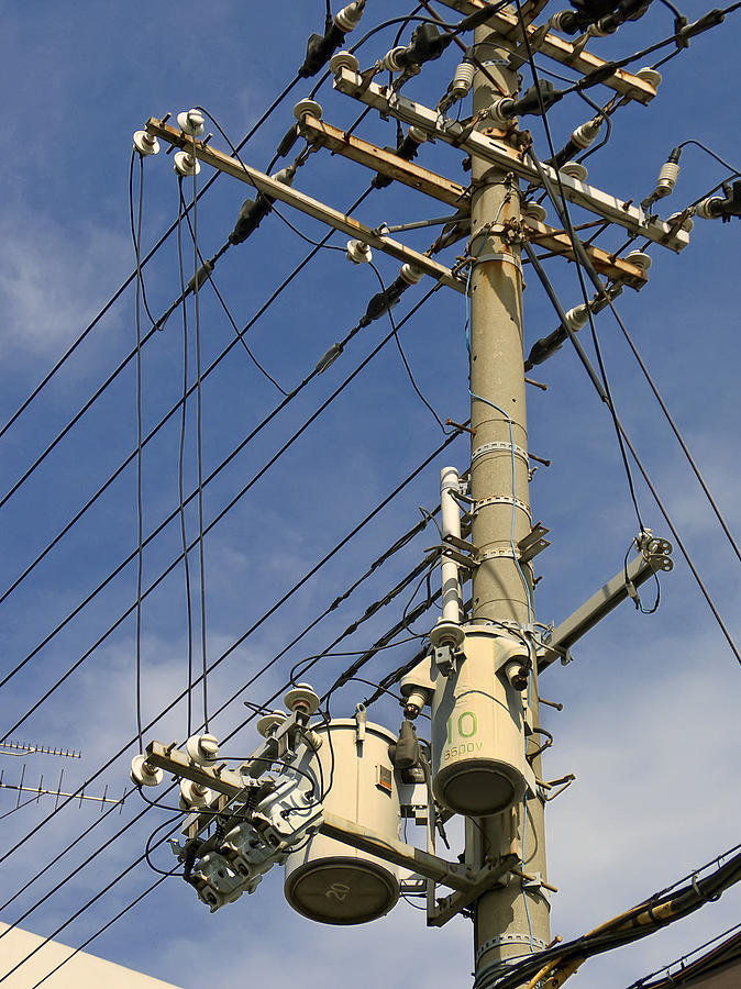 Japan Power Utility Pole Photograph
