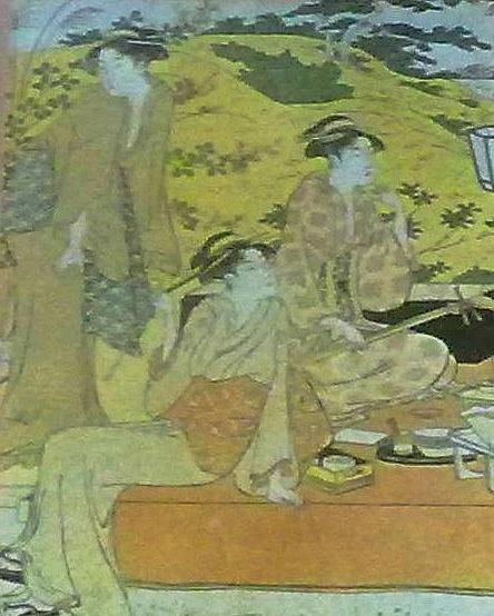Three Painting - Japaneese Women by Unique Consignment