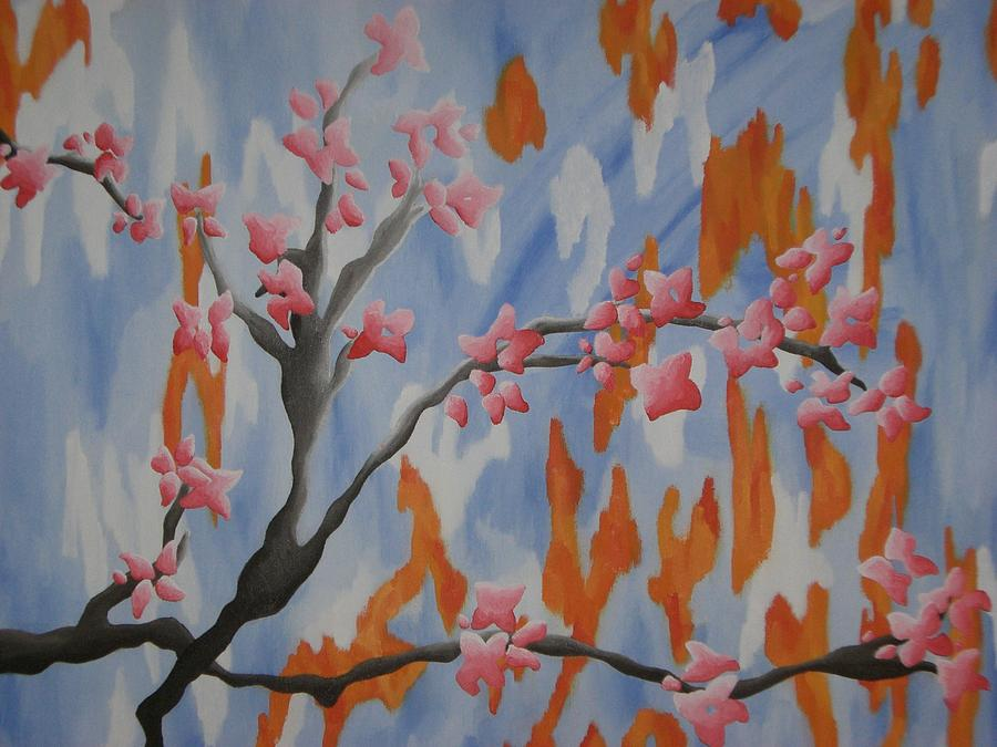Flowers Painting - Japanese Cherry Blossoms by Joanna Leack