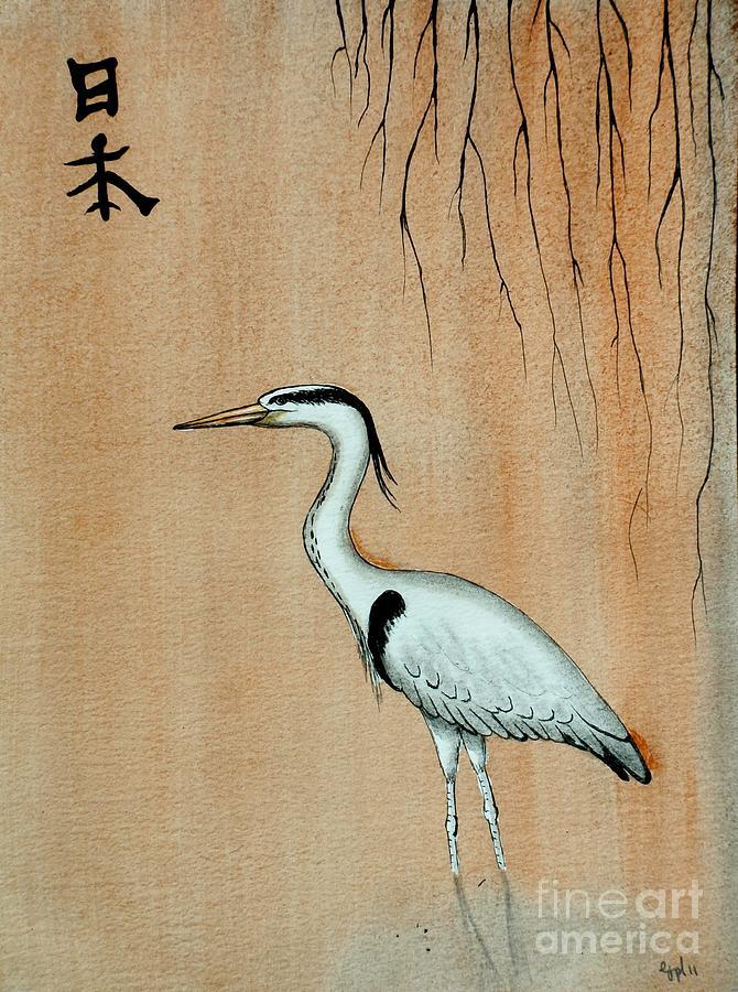 Japanese Crane Painting - photo#26
