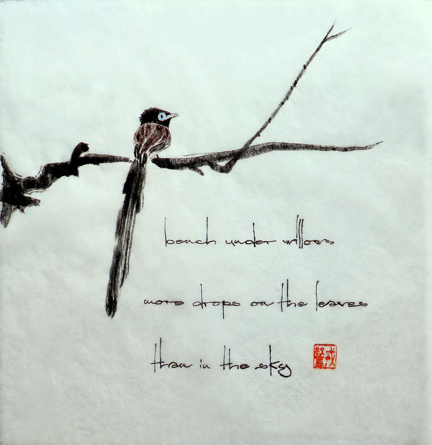 Japanese Paradise Flycatcher 1 Painting