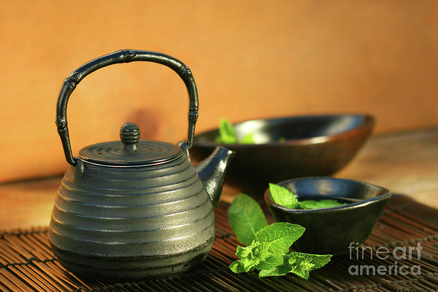 Japanese Teapot And Cup  Photograph  - Japanese Teapot And Cup  Fine Art Print