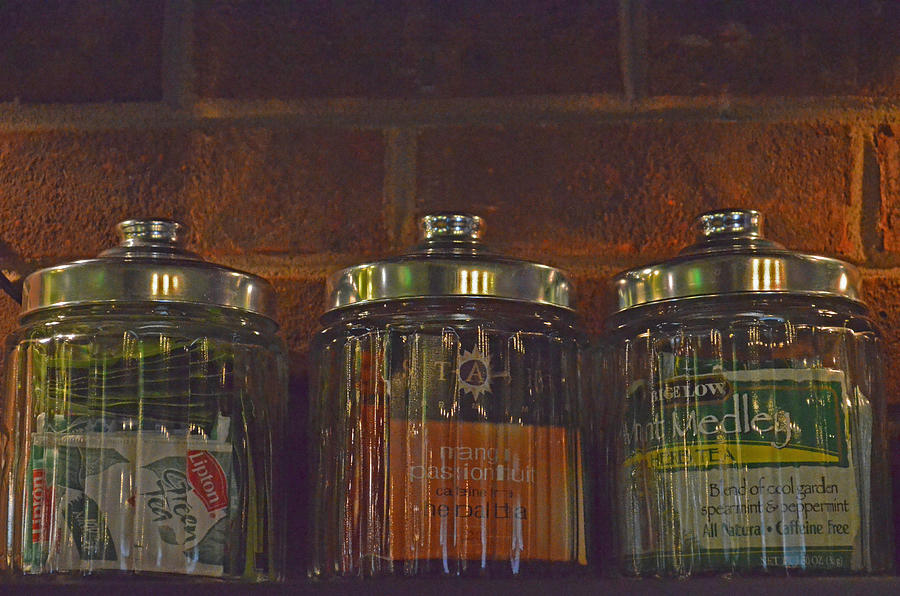 Tea Photograph - Jars Of Assorted Teas by Sandi OReilly