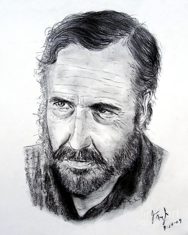 Jason Robards Drawing - Jason Robards by Jim Fitzpatrick