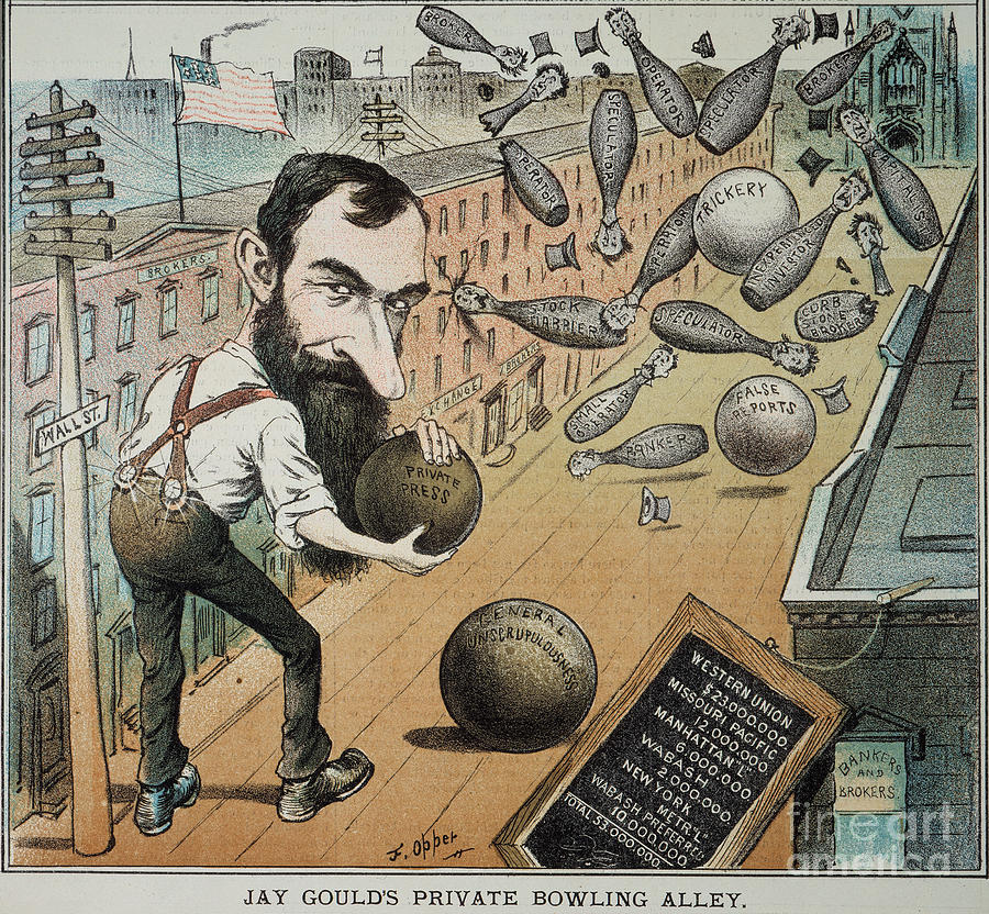 Jay Gould Cartoon, 1882 Photograph  - Jay Gould Cartoon, 1882 Fine Art Print