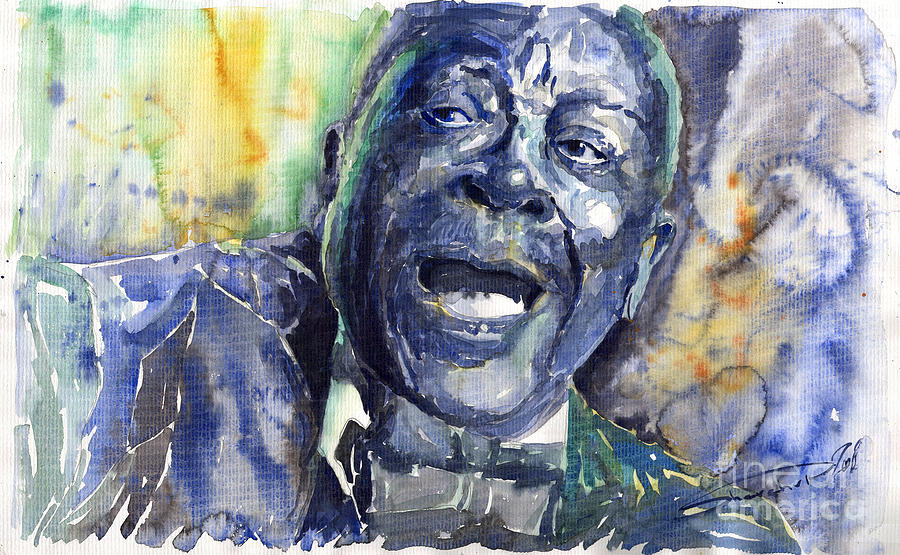 Jazz B B King 04 Blue Painting  - Jazz B B King 04 Blue Fine Art Print