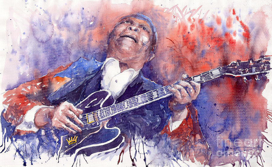 Jazz B B King 05 Red Painting