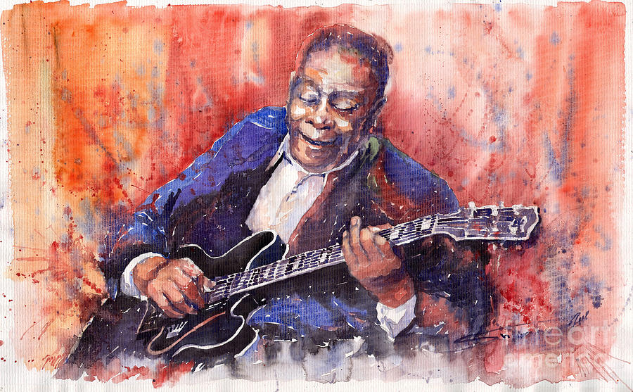 Jazz B B King 06 A Painting  - Jazz B B King 06 A Fine Art Print