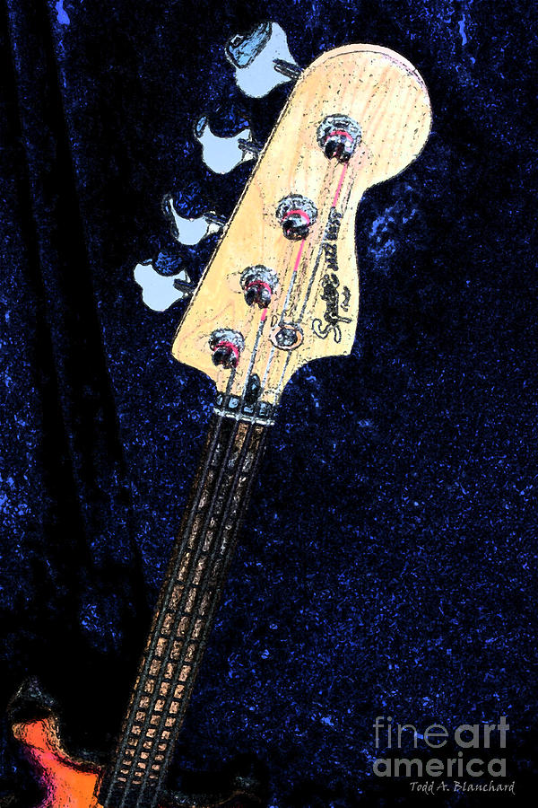 Jazz Bass Digital Art  - Jazz Bass Fine Art Print