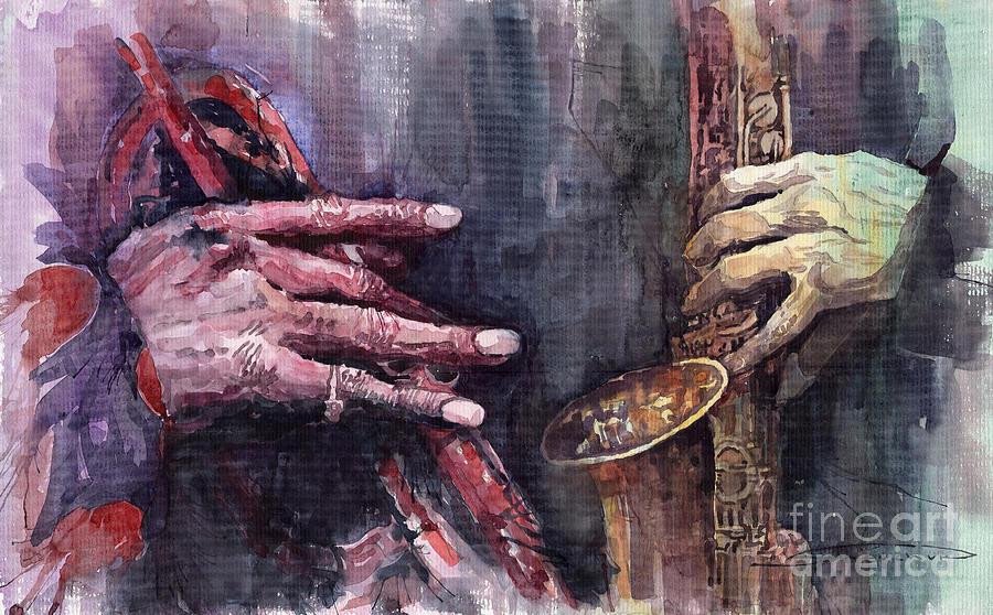 Jazz Batle Of Improvisation Painting
