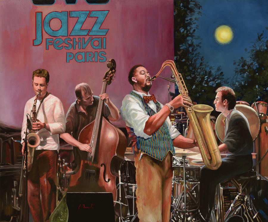 jazz festival in Paris Painting