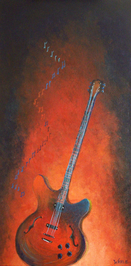 Jazz Guitar Painting  - Jazz Guitar Fine Art Print