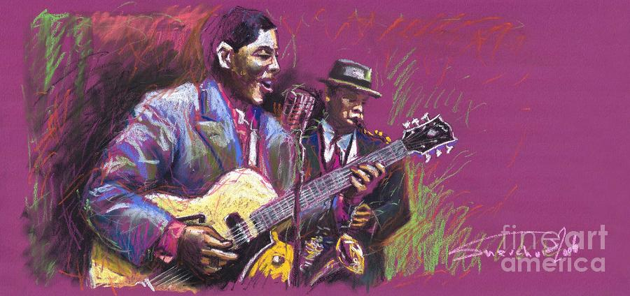 Jazz Guitarist Duet Painting  - Jazz Guitarist Duet Fine Art Print