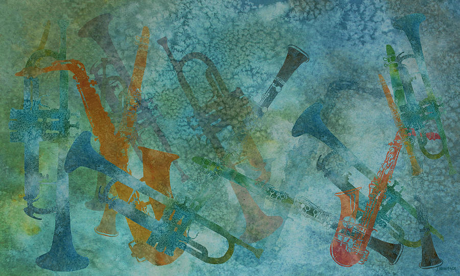 Jazz Improvisation One Painting
