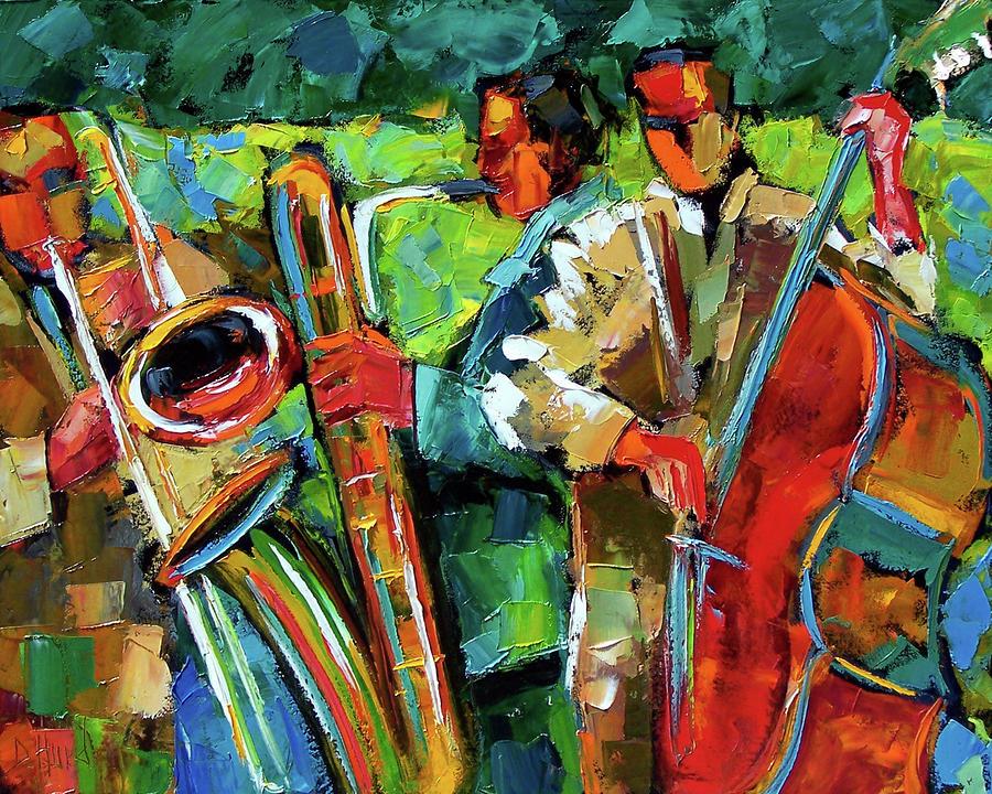 Jazz In The Garden By Debra Hurd Jazz In The Garden Painting Jazz In The Garden Fine Art