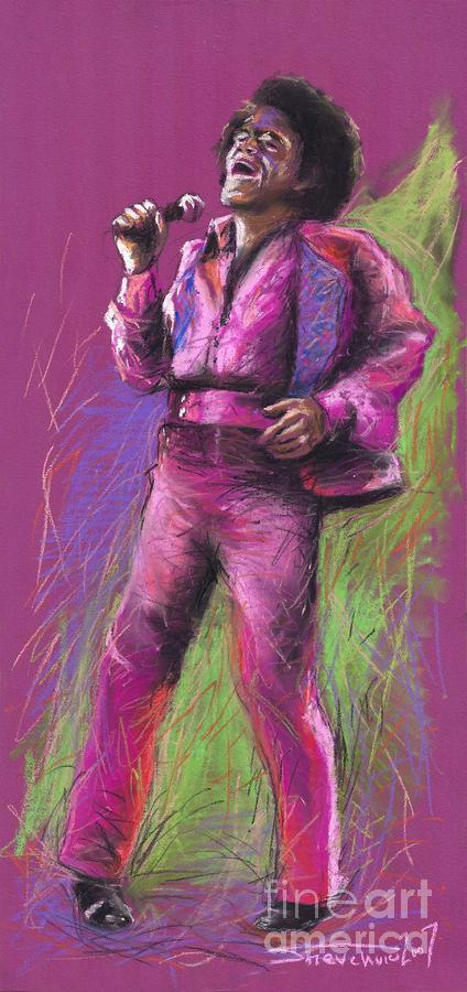 Jazz James Brown Painting  - Jazz James Brown Fine Art Print