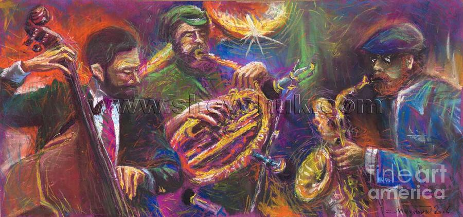 Jazz Jazzband Trio Painting