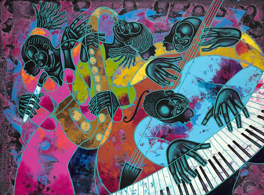 Jazz On Ogontz Ave. Painting