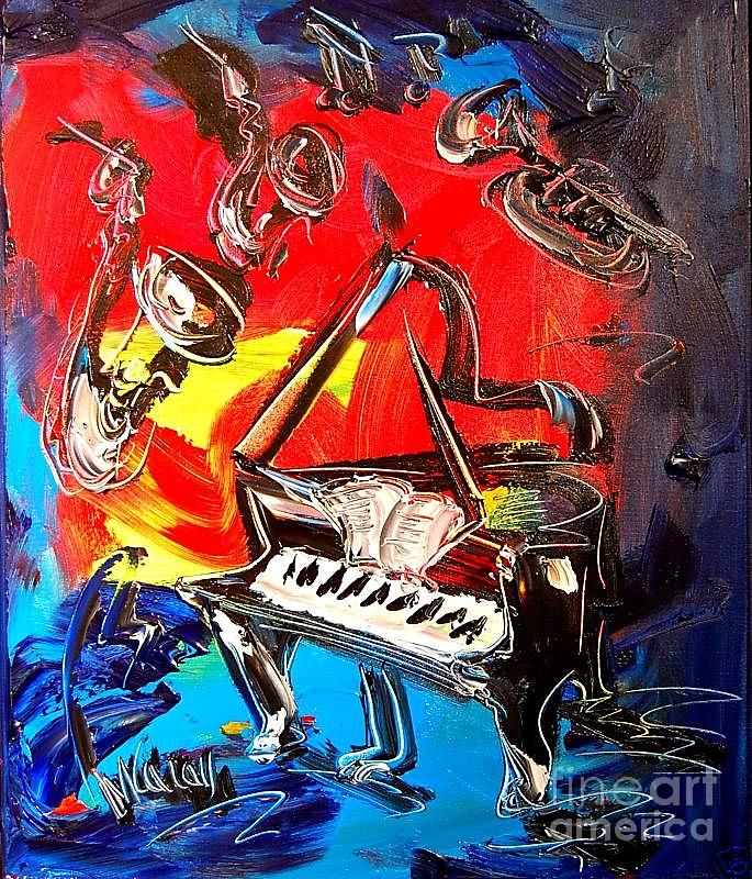 Jazz Piano Digital Art  - Jazz Piano Fine Art Print
