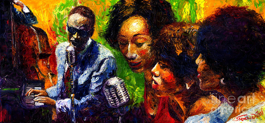 Jazz  Ray Song Painting  - Jazz  Ray Song Fine Art Print