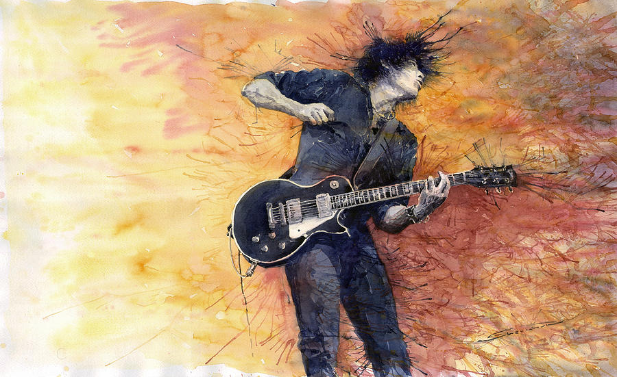Jazz Rock Guitarist Stone Temple Pilots Painting  - Jazz Rock Guitarist Stone Temple Pilots Fine Art Print