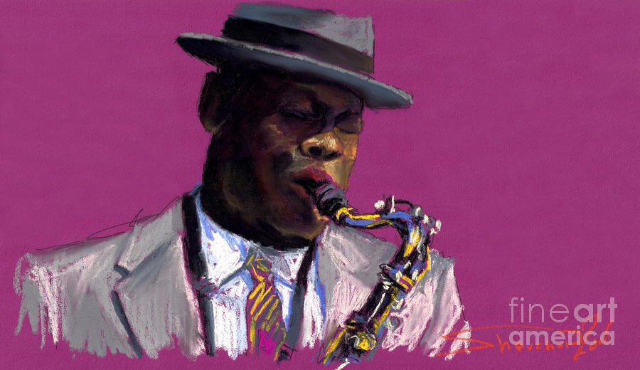 Jazz Saxophonist Painting