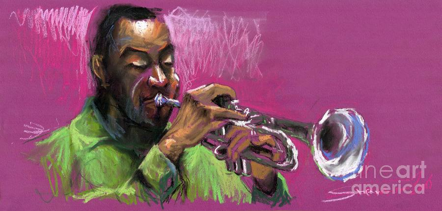Jazz Trumpeter Painting  - Jazz Trumpeter Fine Art Print
