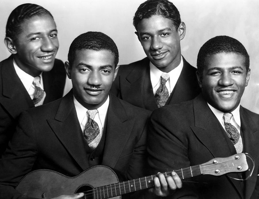 Jazz Vocal Quartet The Mills Brothers Photograph  - Jazz Vocal Quartet The Mills Brothers Fine Art Print