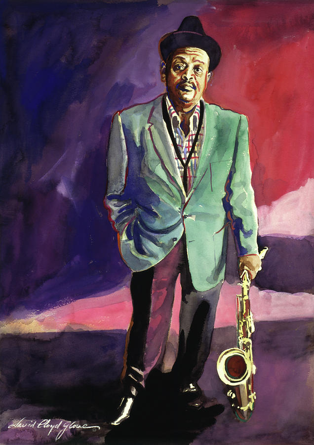 Jazzman Ben Webster Painting  - Jazzman Ben Webster Fine Art Print