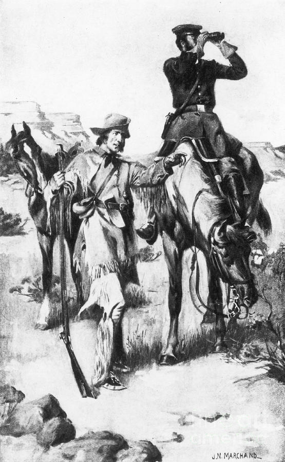 J.c. Fremont And His Guide, Kit Carson Photograph