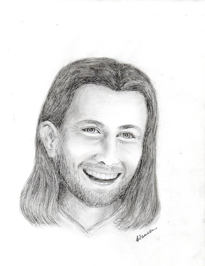 Jc1 Jesus Drawing  - Jc1 Jesus Fine Art Print