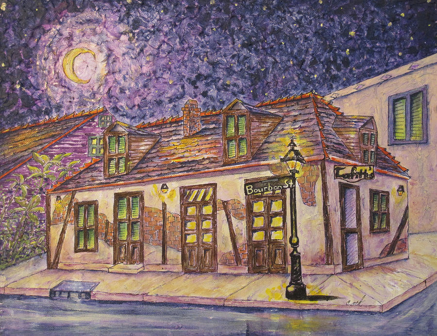 Jean Lafitte Blacksmith Shop Bourbon Street New Orleans Painting  - Jean Lafitte Blacksmith Shop Bourbon Street New Orleans Fine Art Print
