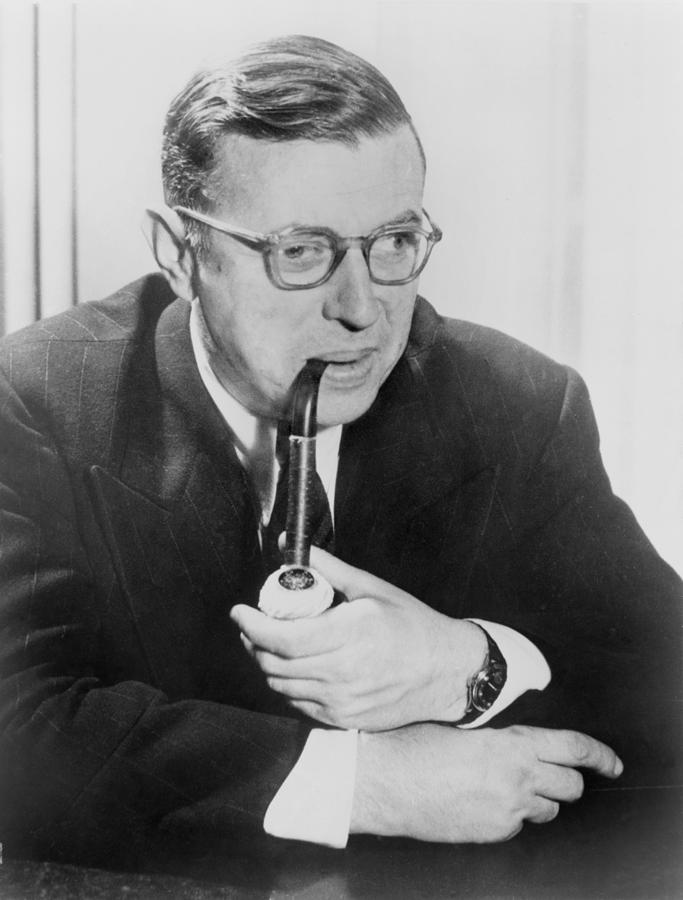 Jean-paul Sartre 1905-1980, French Photograph  - Jean-paul Sartre 1905-1980, French Fine Art Print