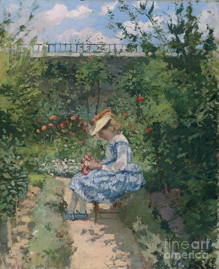Jeanne In The Garden Painting