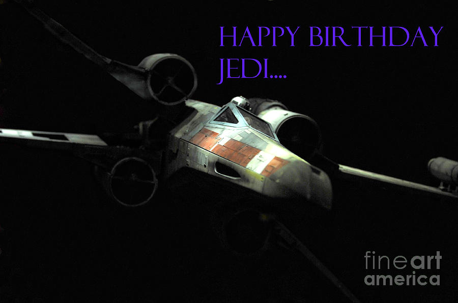 Jedi Birthday Card Photograph  - Jedi Birthday Card Fine Art Print