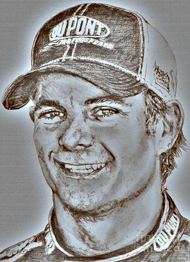 Jeff Gordon In 2010 Digital Art  - Jeff Gordon In 2010 Fine Art Print