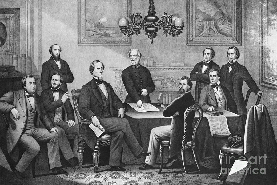 Jefferson Davis, Cabinet Photograph  - Jefferson Davis, Cabinet Fine Art Print