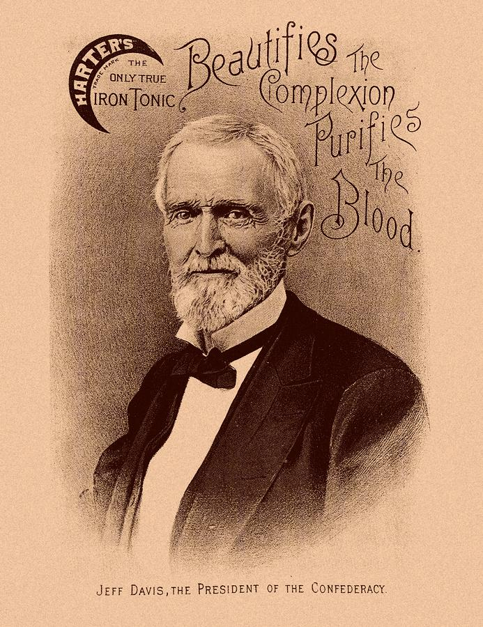 Jefferson Davis Vintage Advertisement Drawing