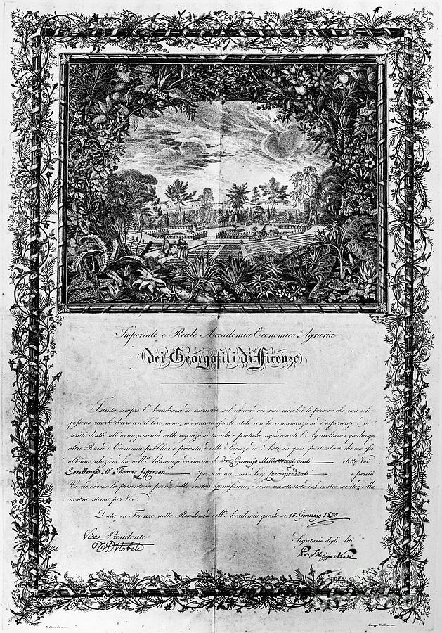 Jefferson: Degree, 1820 Photograph