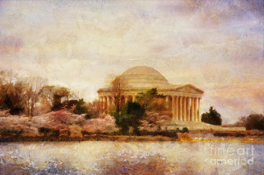 Jefferson Memorial Just Past Dawn Photograph  - Jefferson Memorial Just Past Dawn Fine Art Print