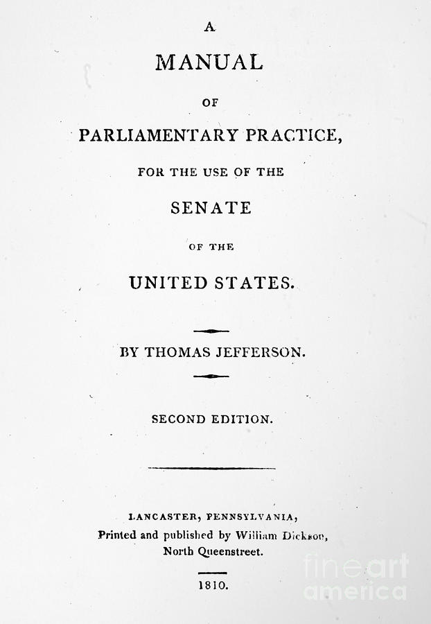 Jefferson: Title Page, 1810 Photograph