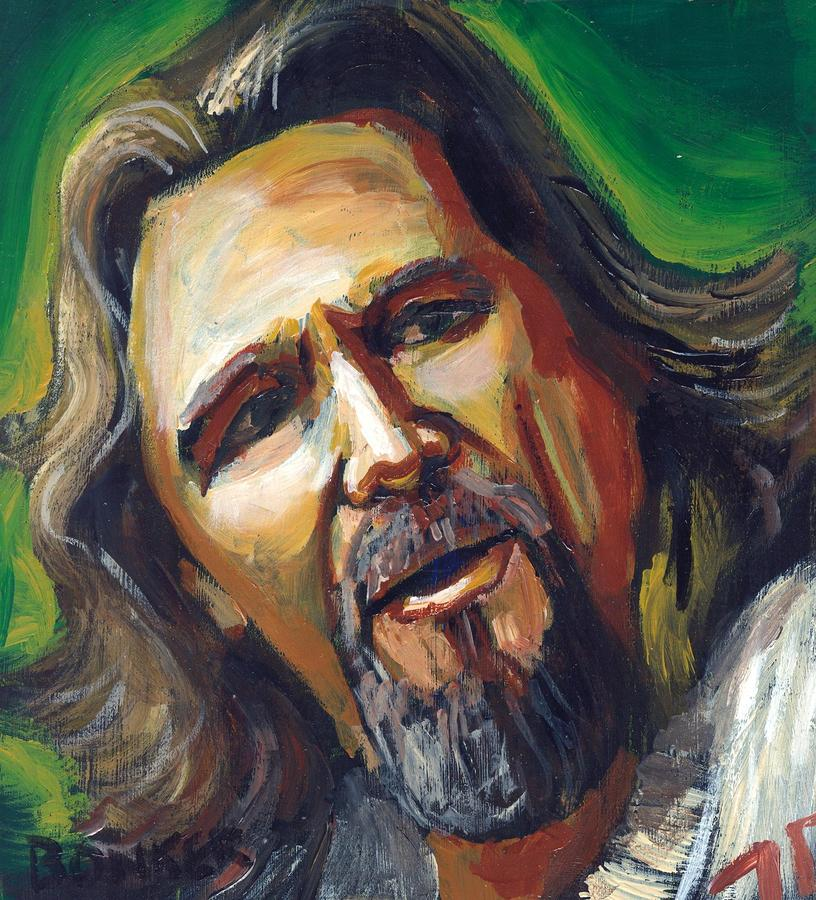 Jeffrey Lebowski The Dude Painting  - Jeffrey Lebowski The Dude Fine Art Print