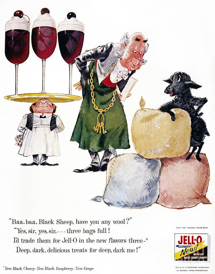 Jell-o Advertisement, 1957 Photograph