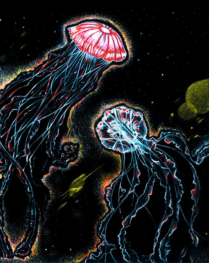 Under Water  Pastel - Jellyfish Nebula  by Chris Montecalvo