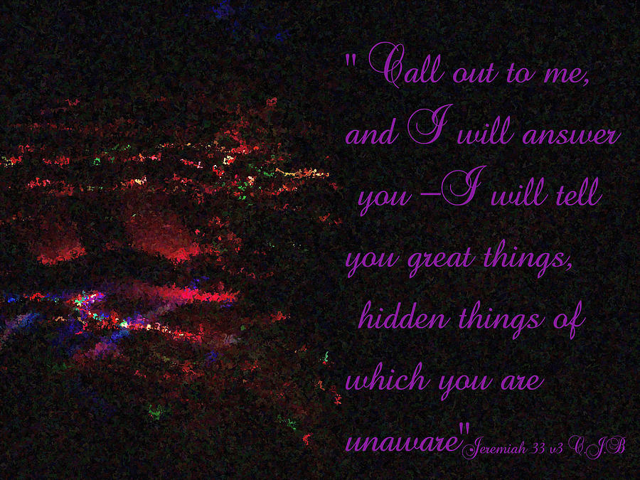 Jeremiah 33v3 Moving Lights  Impressionist Painting Photograph